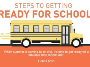 Steps to Getting Ready for School-Infographic