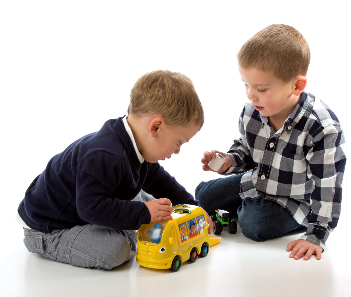 Boys Sharing Toys : Learning to share sanely kits