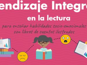 Infográfico sobre cómo integrar el aprendizaje en la lectura con sus niños